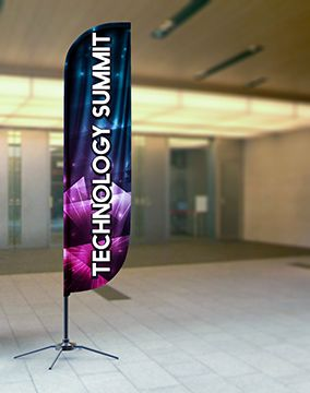 Feather Banners Indoor Display Options