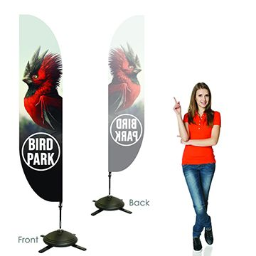 Feather Banners Single Sided, Left Facing Option with Pole on the Right