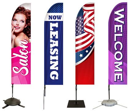 Feathers Banners Pre-Designed Flags Options