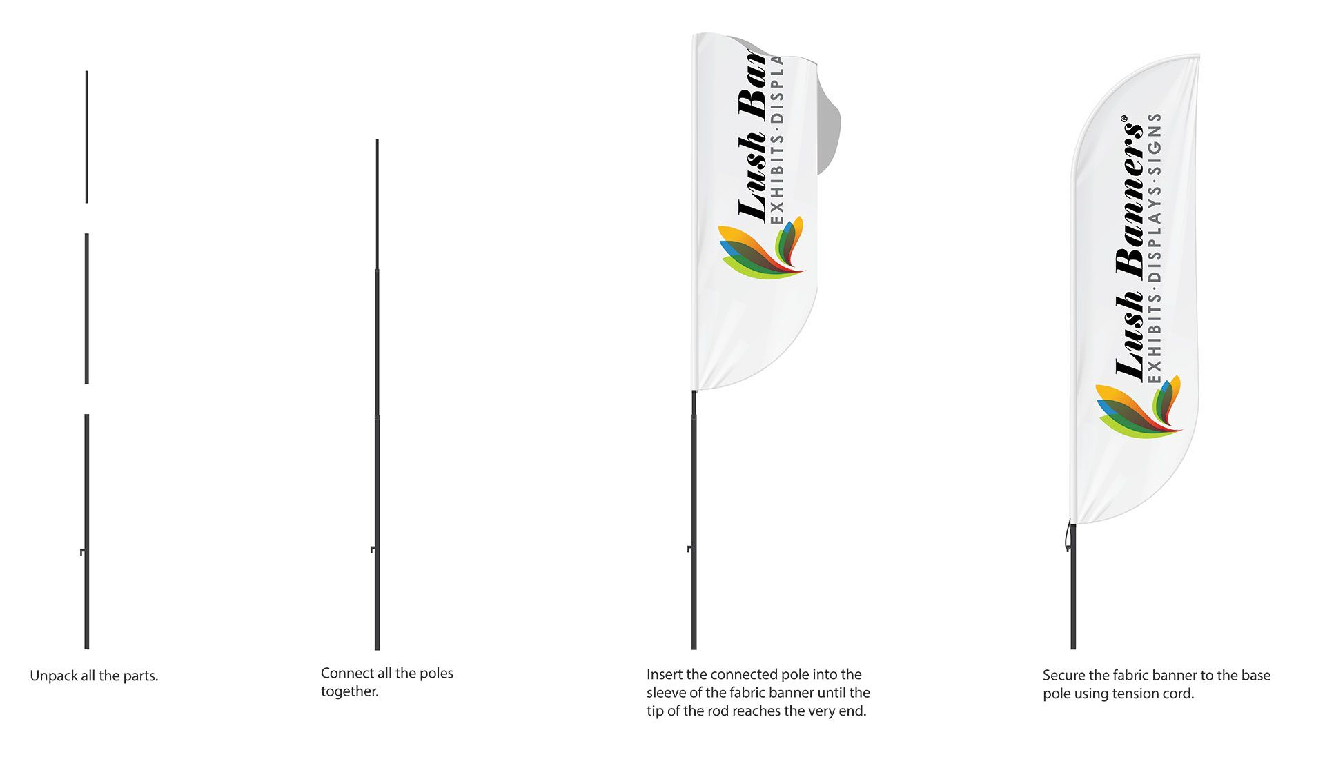 How to Assemble Flag Banners
