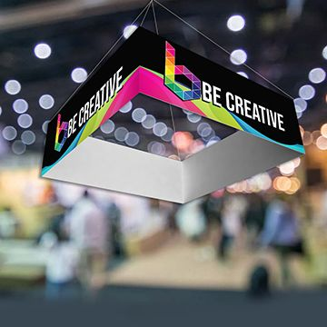 Hanging Banners Square Shape Options