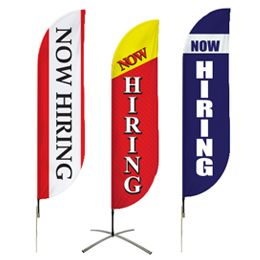 Buy Now Hiring Flags Pre-Designed Online