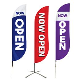 Buy Now Open Flags Pre-Designed Online