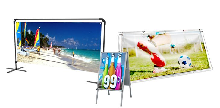 Outdoor Banner Stands Options
