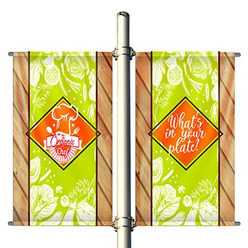 Double Set Pole Banner Options