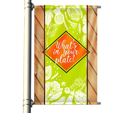 Single Set Pole Banner Options