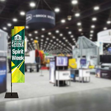 Rectangular Flag Banners Trade Show Display Options