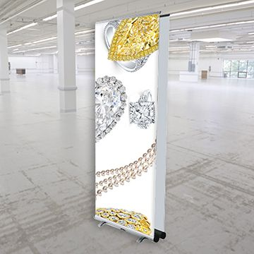 Retractable Banner Stands Double Sided Options