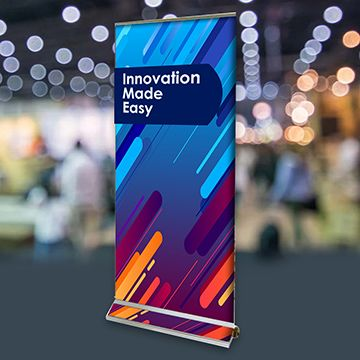 Retractable Banner Stands Graphic Interchangeable Flex Options