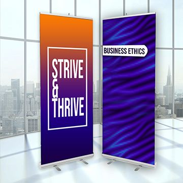 Retractable Banner Stands Standard Options