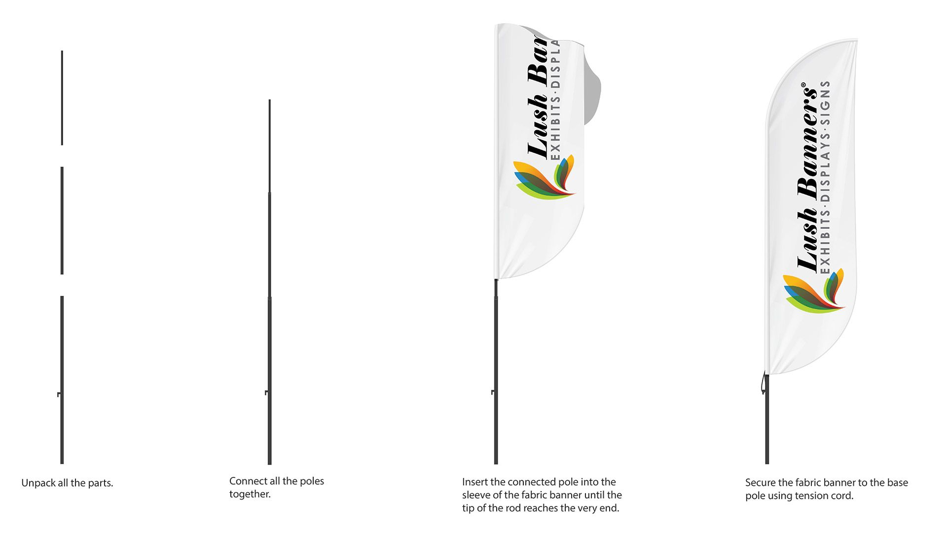 How to Assemble Teardrop Flag Banners