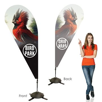 Teardrop Banners Single Sided, Left Facing Option with Pole on the Right