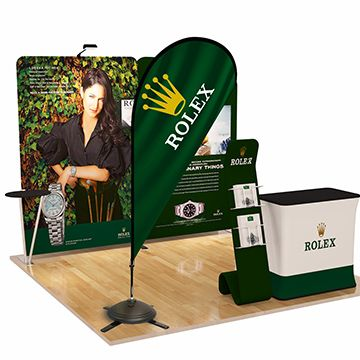Teardrop Banners Trade Show Display Options