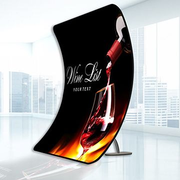 Tension Fabric Displays with Footed Arch Shape Options