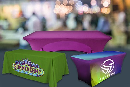 Custom Table Covers for Trade Shows Options