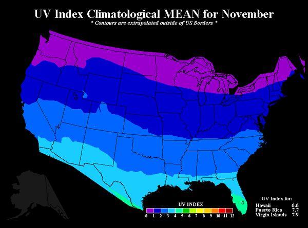 UV Chart for November