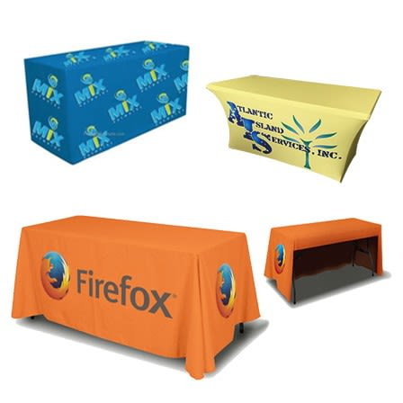 4ft Trade Show Table Cover