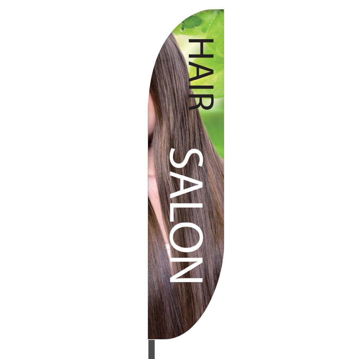 Hair Salon Feather Flag Design 01