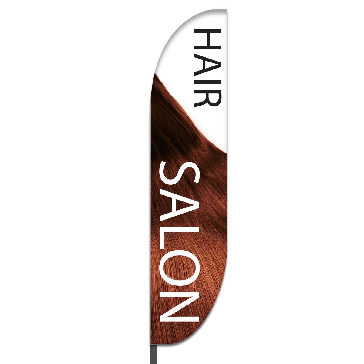 Hair Salon Feather Flag Design 04