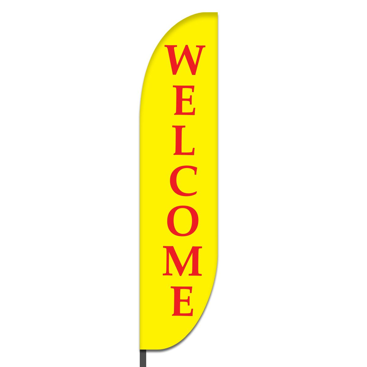 Welcome Feather Flag Design 04