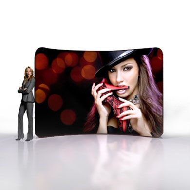 10ft Premium Tension Fabric Display (Curve)