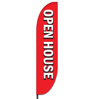 Open House Feather Flag Design 01