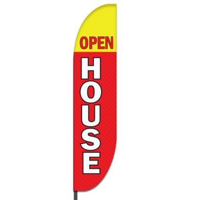 Open House Feather Flag Design 05