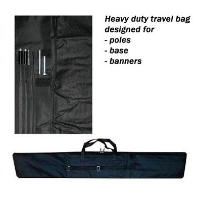 Travel Bag (Feather / Bowhead / Teardrop Banners)