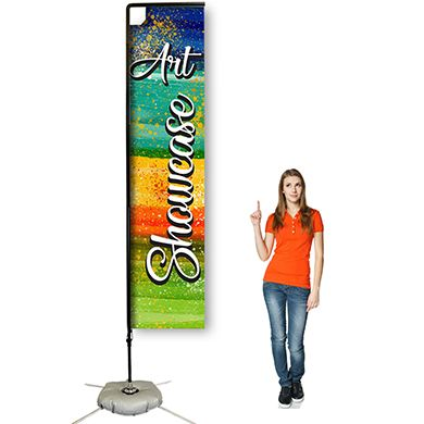 12ft Rectangular Flag Banners