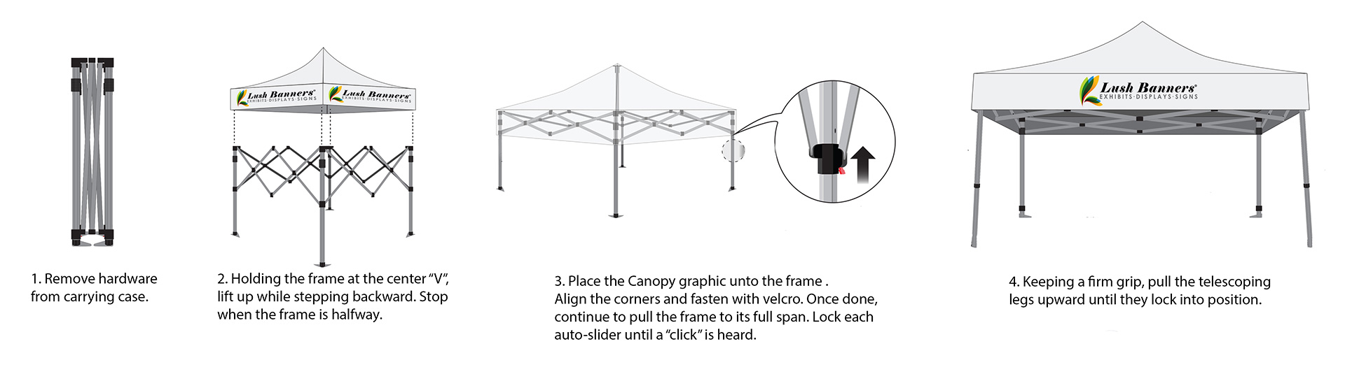 How to Assemble Custom Canopy Tents