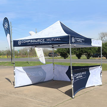 Custom Canopy Tents Single Sided Option