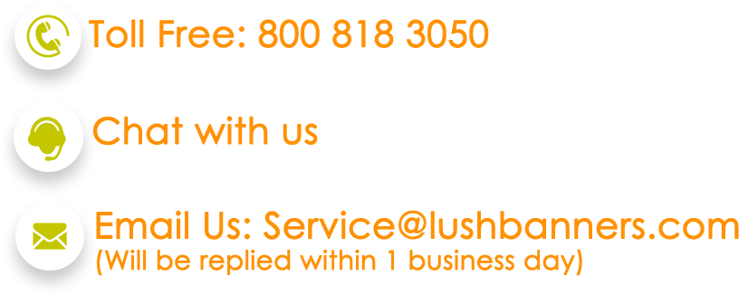 Contact Lush Banners