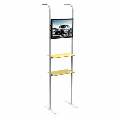 TV Rack And Display Shelf Unit for Straight Tension Fabric Displays