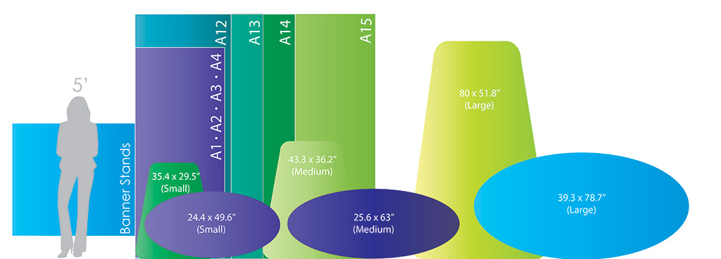 Banner Stands Size Chart