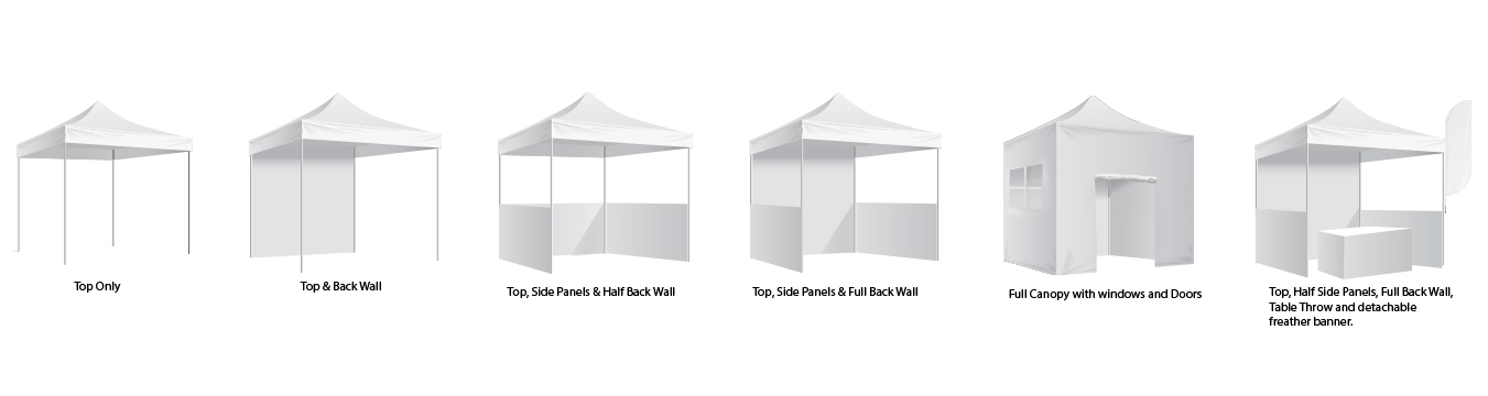 Custom Canopy Tents Walls and Side Panels Options