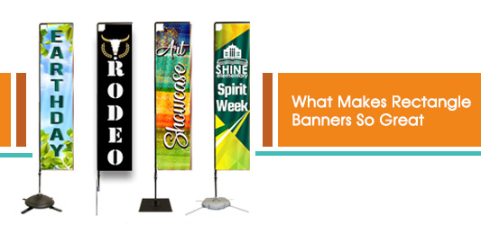 Rectangular Flag Banners from Lush Banners