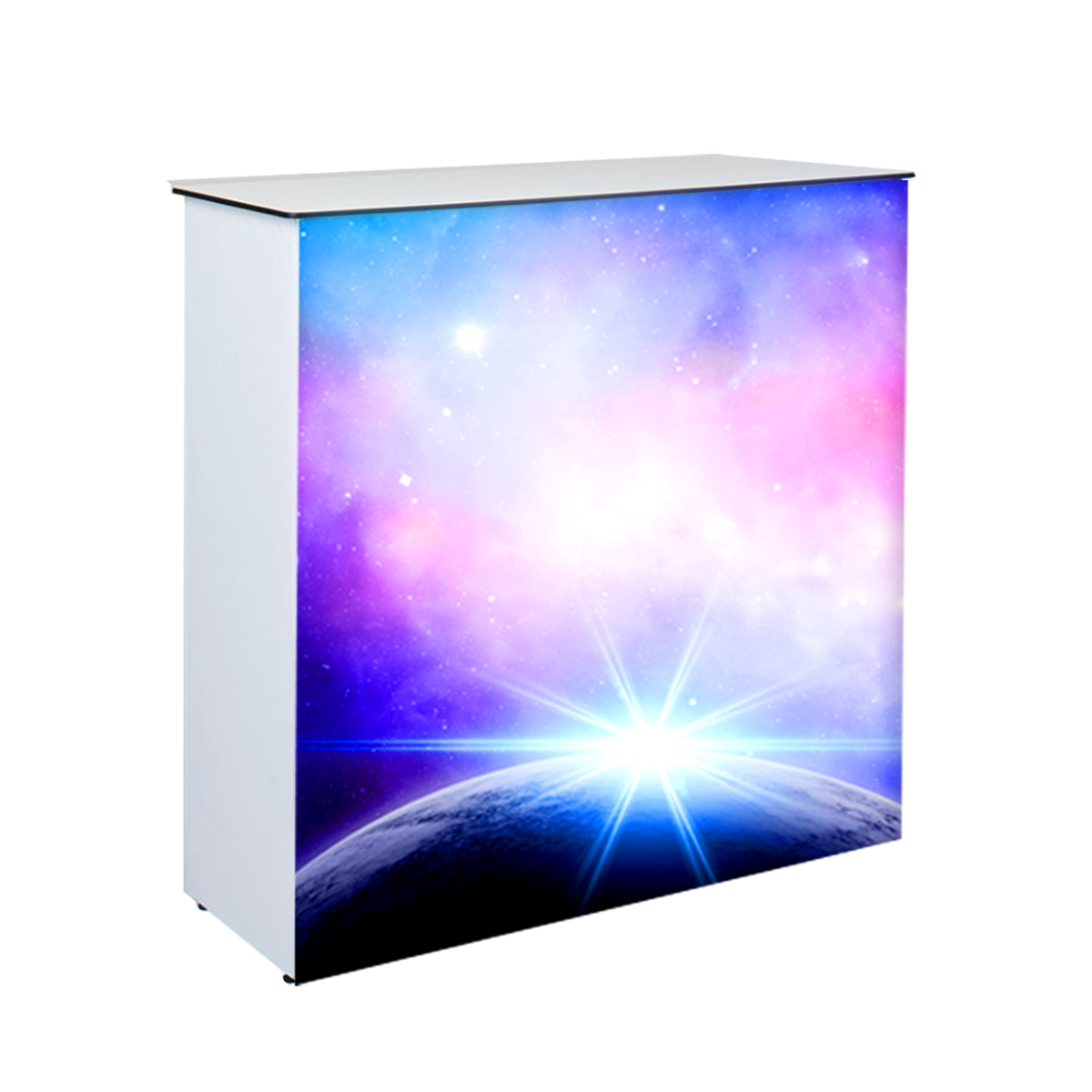 Bright LED Backlit Trade Show Counter
