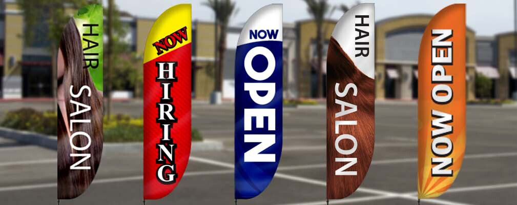 Outdoor Feather Banners Help Small Business to Boost ROI| Lush Banners