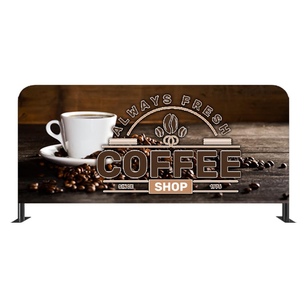 Custom Cafe Barrier Display