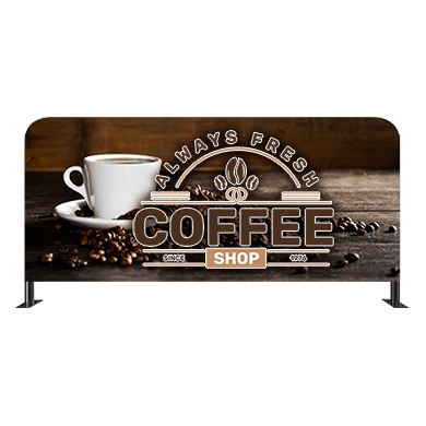 Custom Cafe Barrier Display