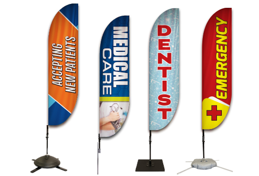 Medical Feather flags