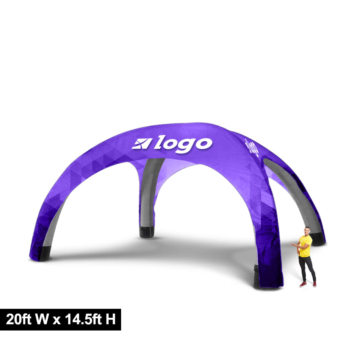 Custom Printed Inflatable Tent 20ft
