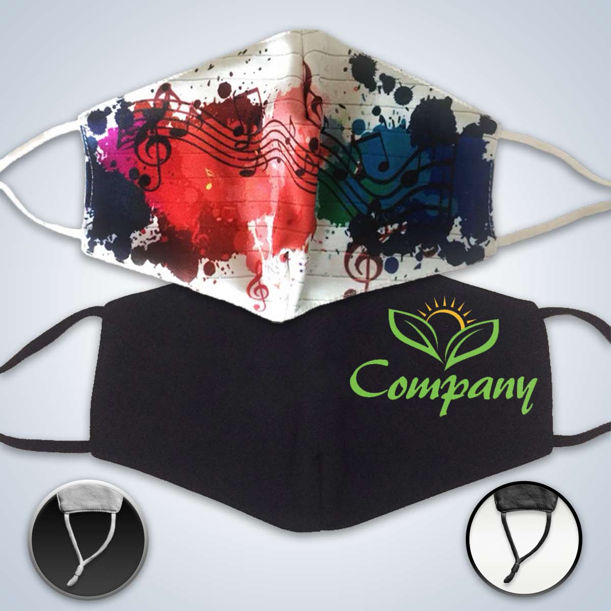Custom Printed Masks With Adjustable Ear-loop