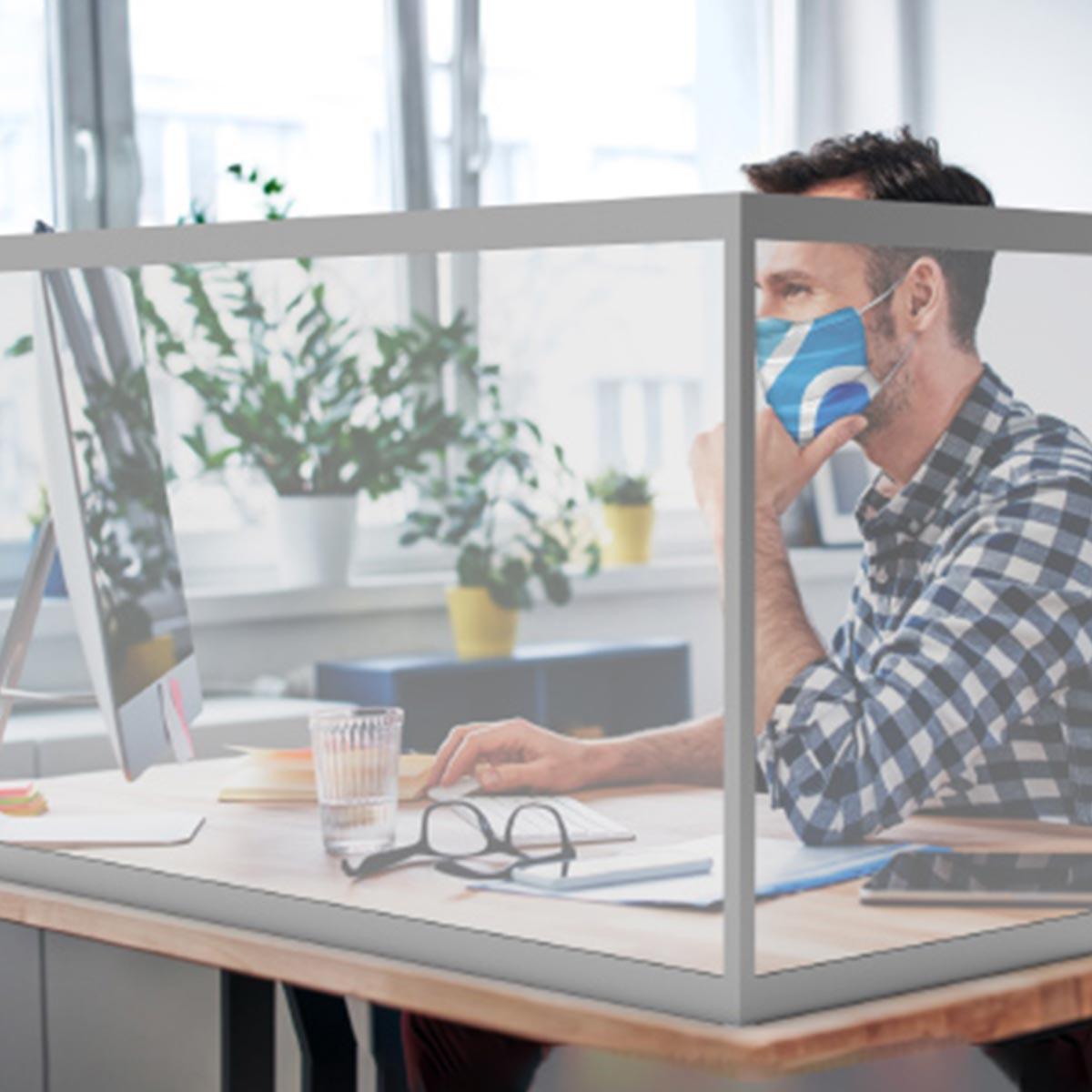 Office Desktop Sneeze Guard