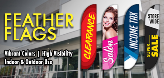 How To Use Feather Banners For Your Business Promotion | Lush Banners