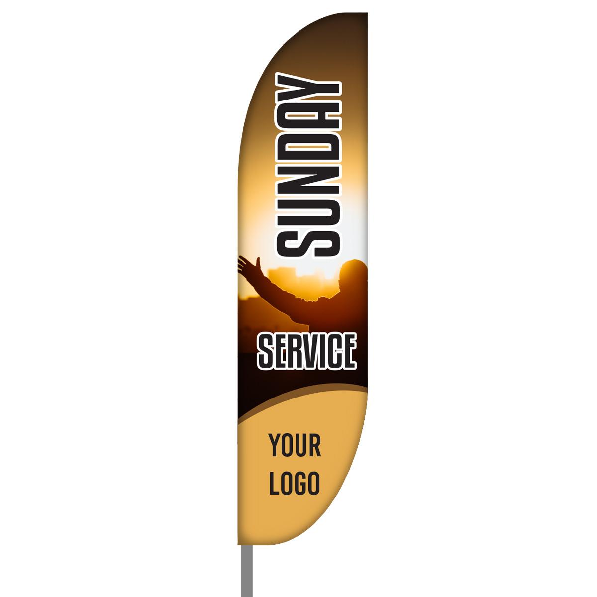 Sunday Service Feather Flag Kit - 01