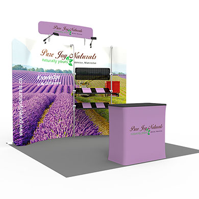 10x10 Trade Show Booth Formulate Fabric 04