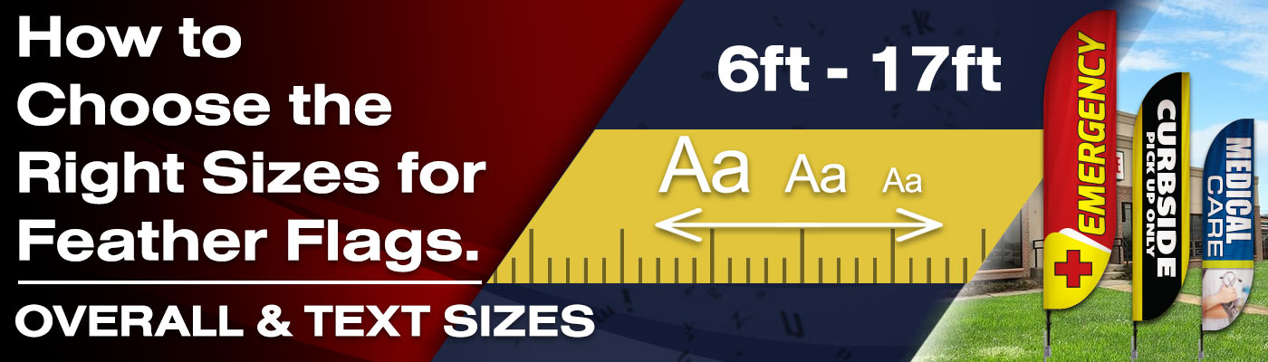 How to Choose the Right Sizes for Feather Flags? Overall and Text Sizes