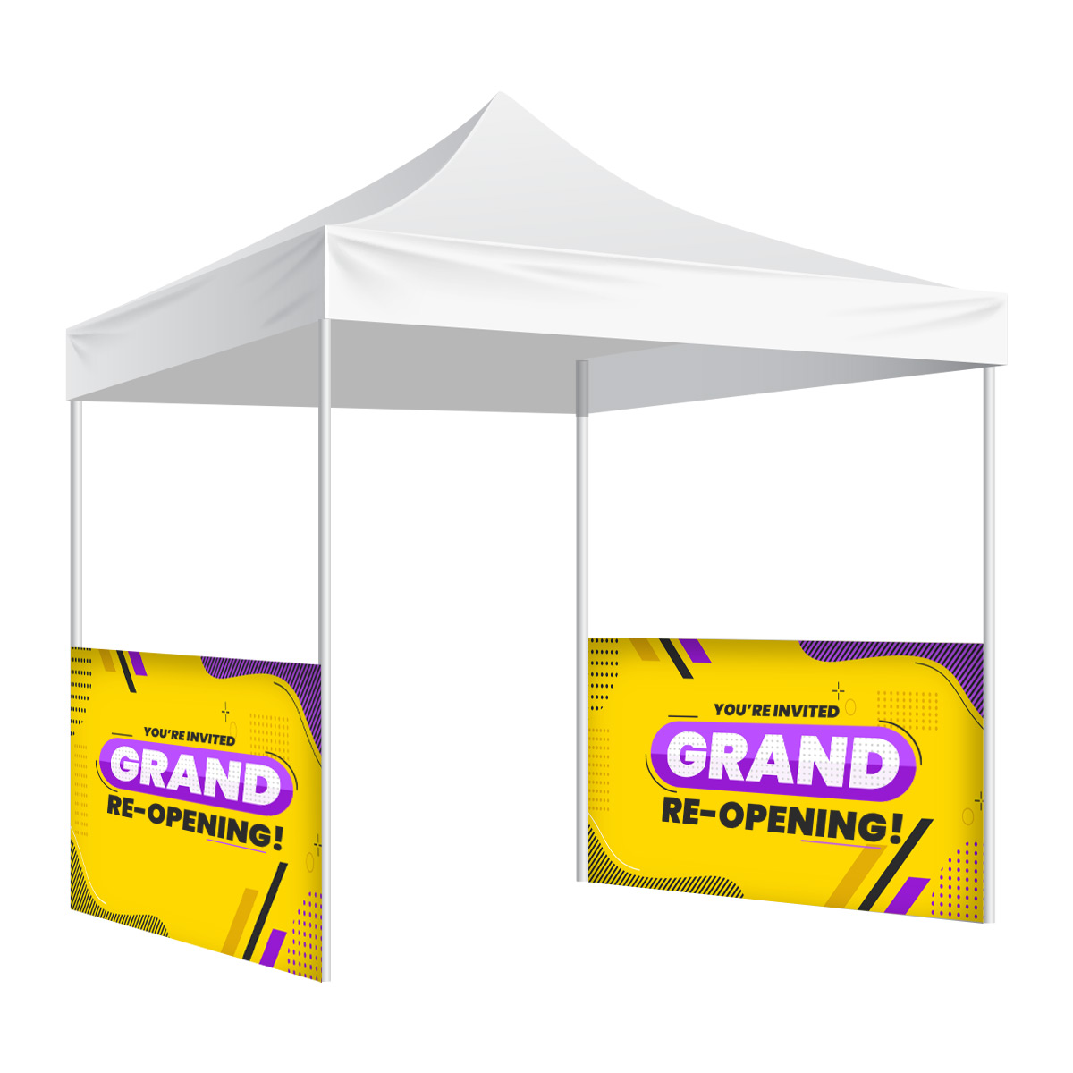 Custom Printed Half Wall Or Side Panel For Canopy Tent