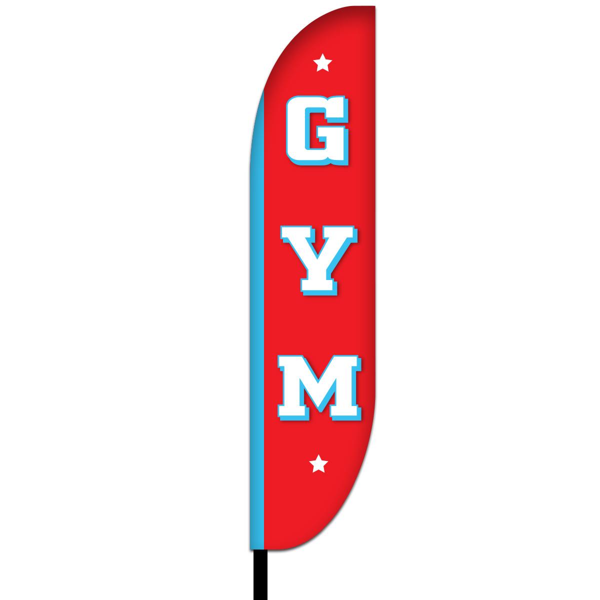 Gym Feather Flag Design 01